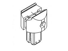 Aluminum 90° T-connector NGP40/60 (204C090-206C090)