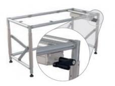Height adjustable FL table with crank (720 - 1020mm ; 300kg ; NGP40 ; 214FLS-HVSTK)