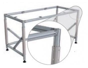 Height adjustable FL table clamp (720 - 1020mm ; 300kg ; NGP40 ; 214FLS-HVSTM)