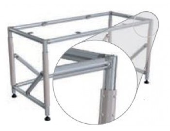 Height adjustable FL table with clamp (720 - 1020mm ; 500kg ; NGP60 ; 216FLS-HVSTM)